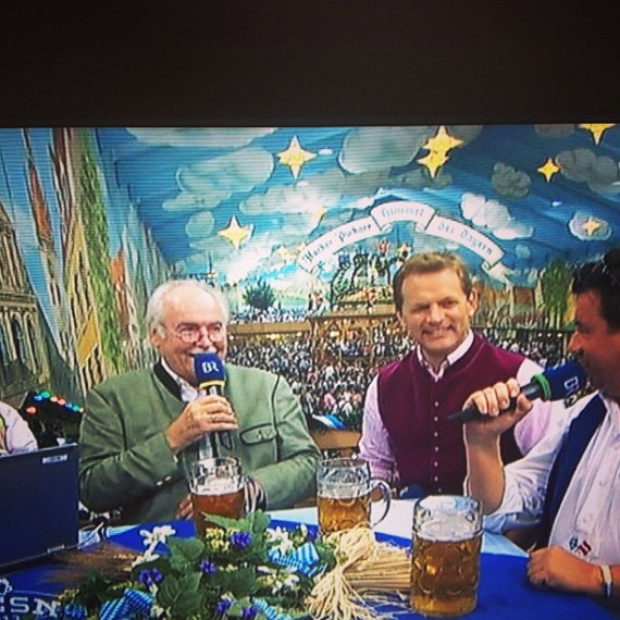 Gotta love that there's #Oktoberfest coverage in #Germany - at all hours -it's serious business! #goingtosleepnow !!