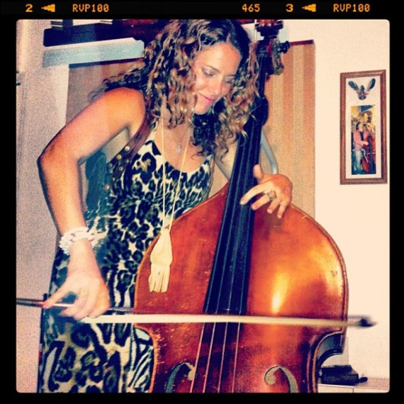Gettin #funky with #tomfreund on his #standup  #bass #latenight #venice