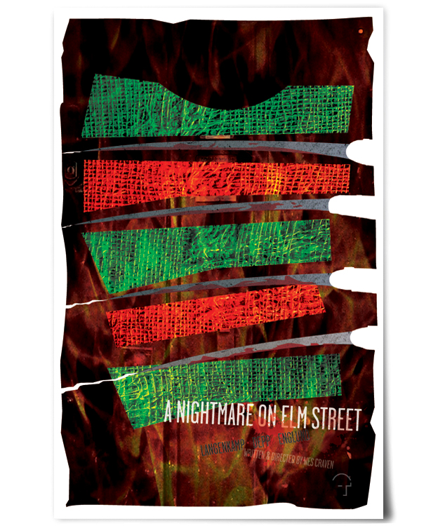 tom gabor nightmare on elm street poster design