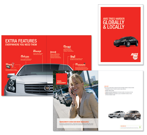 tom gabor avis corporate brochure design
