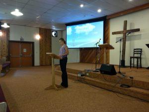 Maddie Preaching