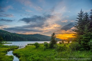 Spruce Mountain Lake Sunset