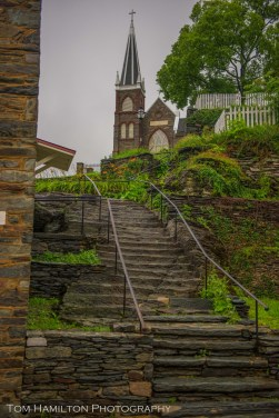 """""""Pathway to heaven."""" In this case, through St. Peter's Catholic Church"""