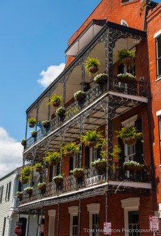 Typical French Quarter balcony