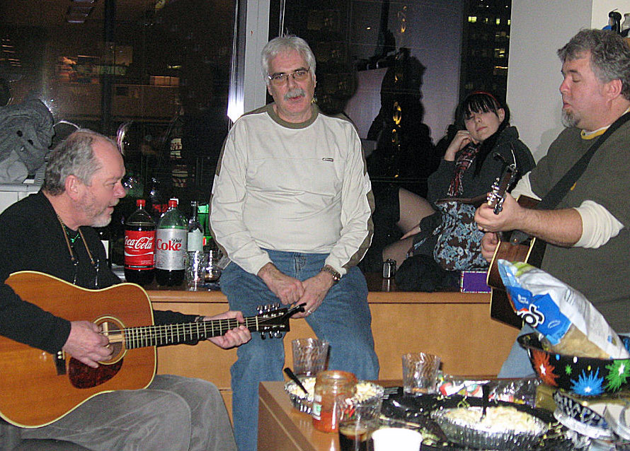 jamming with rusty young in times square