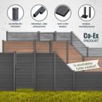 Tomi Wpc Sichtschutz Zaun Gartenzaun Windschutz Sichtschutzzaun Lamellenzaun