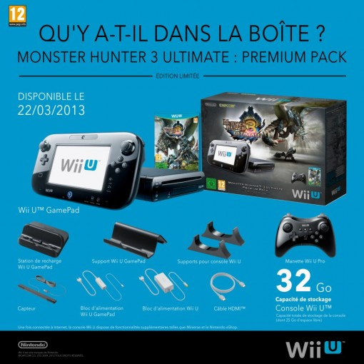 Pack monster Hunter 3 ultimate Wii U