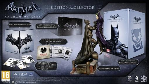 Contenu Batman: Arkham Origins collector