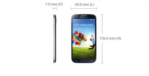 Galaxy S4 proportion