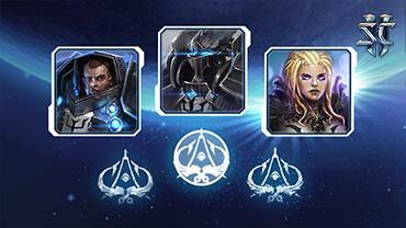 Portraits et graffs du croisé pour StarCraft II