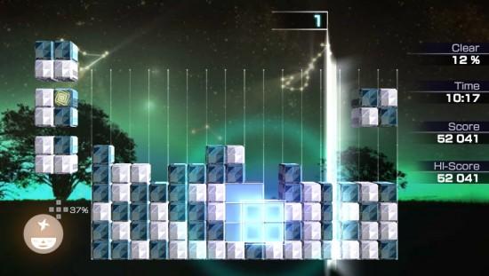 Lumines gameplay