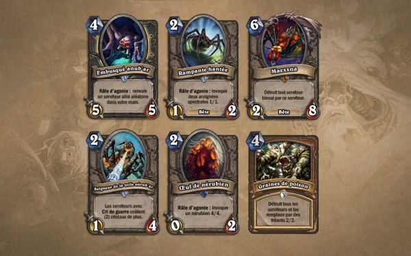 Naxxramas cartes exclusives