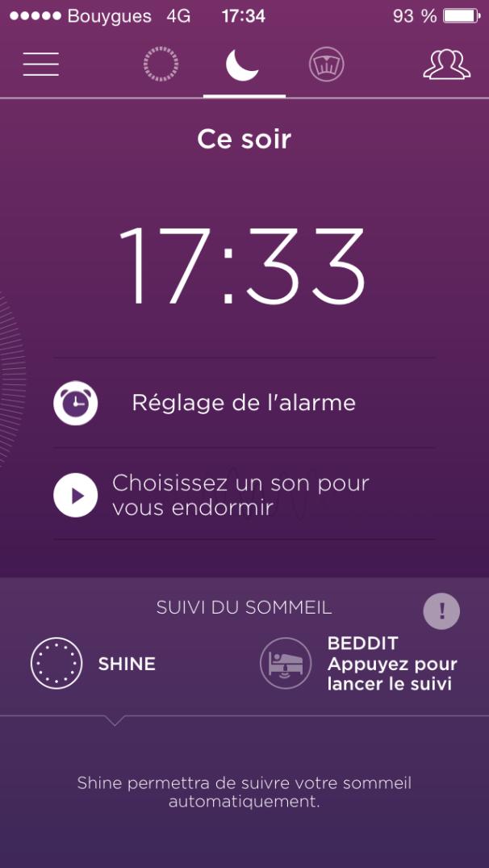 Misfit Shine Réveil
