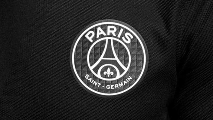 Logo PSG Noir blanc gris