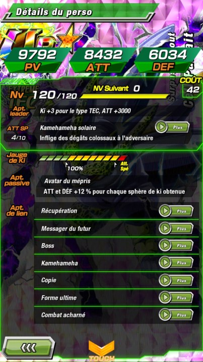 Dokkan Battle Cell Tec