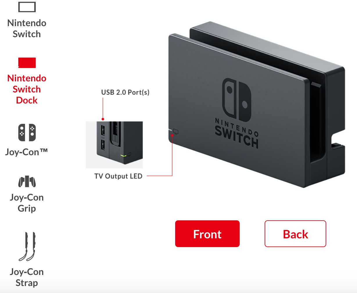 Switch Dock Front