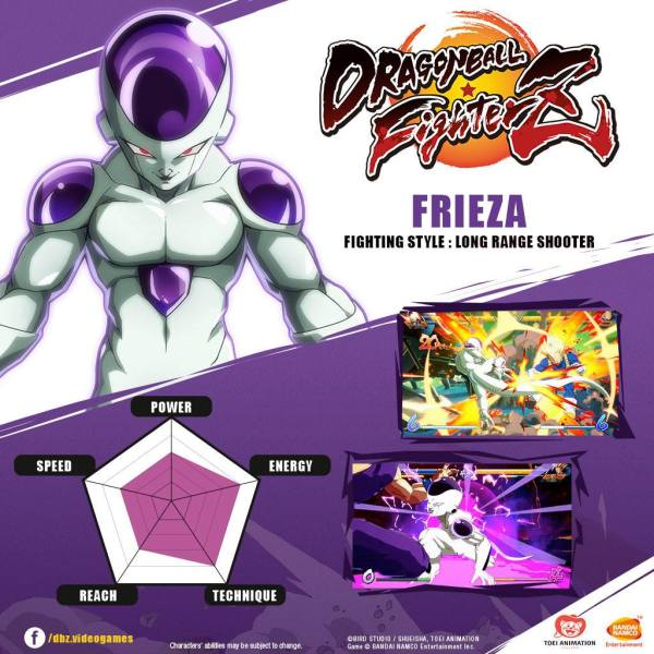 Dragon Fighterz Frieza