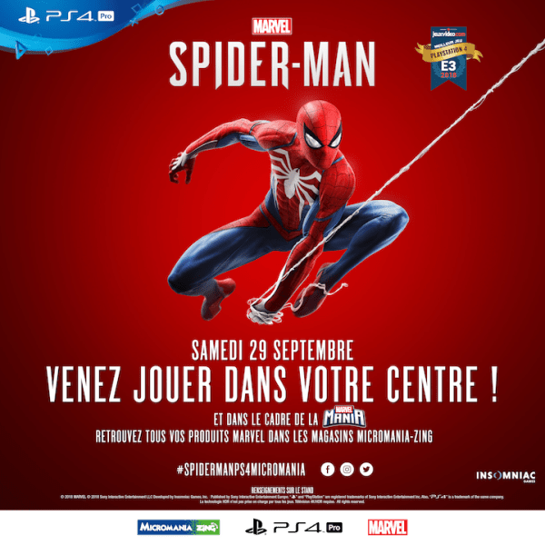 Concours Marvel Spider-Man PS4 Micromania