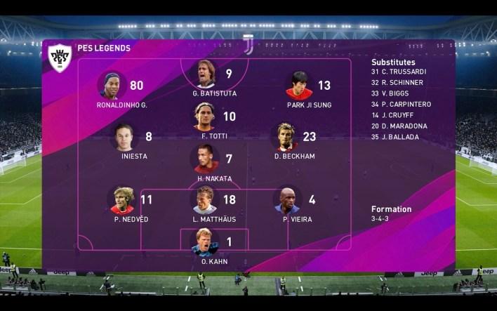 PES 2020 Juventus Team
