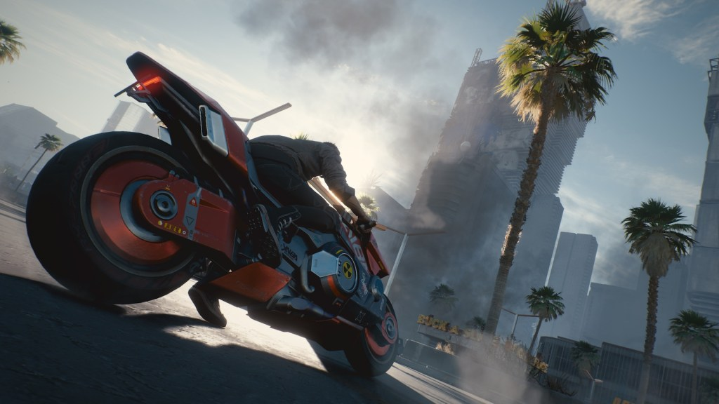 Nouveau moyen de locomotion dans cyberpunk 2077 : la moto