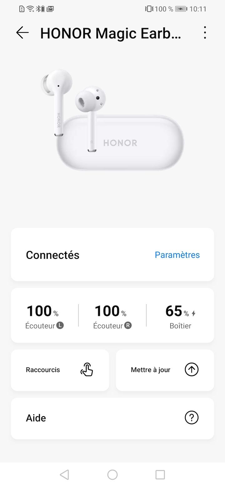 Test des True Wireless Honor Magic Earbuds