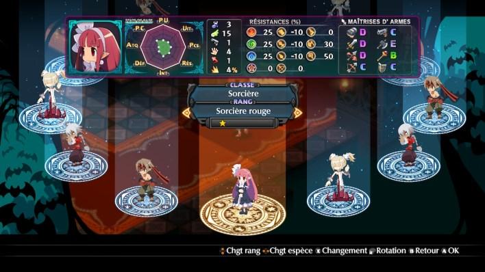Disgaea 6 création de personnage