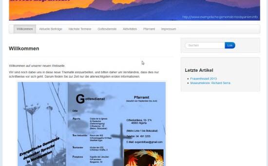 Neue Webseite: www.evangelische-gemeinde-nordspanien.info