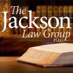 The Jackson law Group Logo with law books