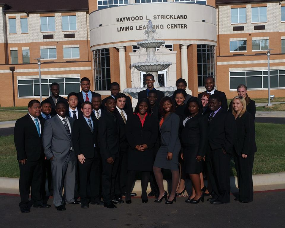 The 2013-2014  Melvin B. Tolson/Denzel Washington Forensics Society won  the Overall Sweepstakes Championship at the 2014 Pi Kappa Delta National Comprehensive Tournament. In back row from left are : Farah Habad, Eric Robinson, Drake Pough, Lyle Kleinman, Benjamin Turner, Austin Ashford,  and Autumn Locke.  In middle row from left are:  Ki-Jana Hernandez, Jesus Cardenas, Katori Mobley, Nathan Leal, Dominick Taylor, Rachel Garnett,  and Rachel Hancock. In front row from left are : Aaron Tumbaga, Ernest Mack, Robert Hollar, Marcus Allen, Autumnwind Spear, Kayla Hall, Mary Mitchell, Cameron Smith,  and Cortney Tingle.