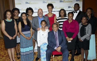 The 2015 Tom Joyner Foundation Full Ride Scholar Finalists with Tom Joyner and Amb. Andrew Young.
