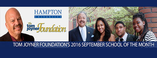 Hampton University Named The September 2016 Partner School