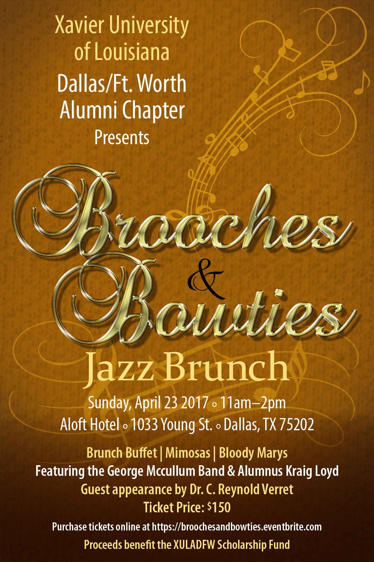 Xavier University of La. DFW Alumni Chapter's Brooches & Bowties Jazz Brunch