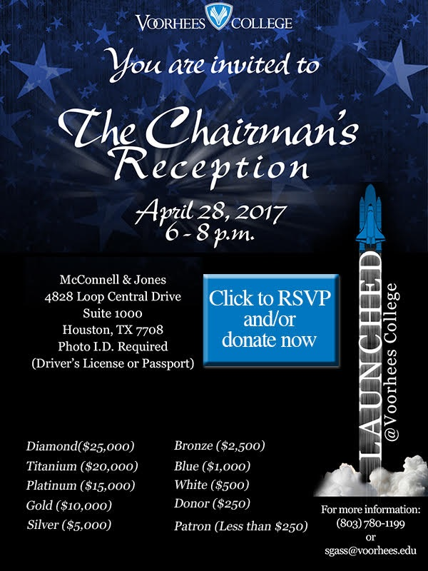 Voorhees College Presents The Chairman's Reception