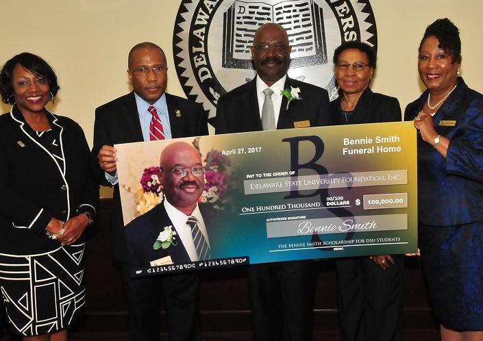 Bennie and Shirley Smith Establish Endowed Scholarship at Delaware State University