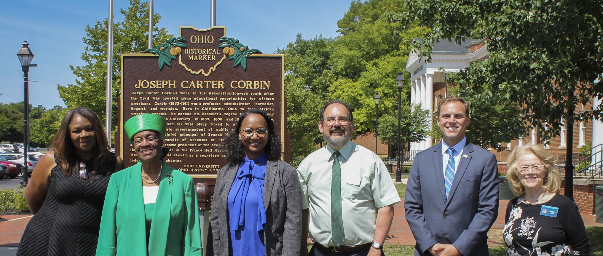 Historical Marker Unveiled in Ohio for J.C. Corbin