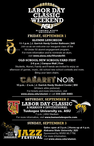 Alabama State's Labor Day Classic Alumni Weekend Schedule