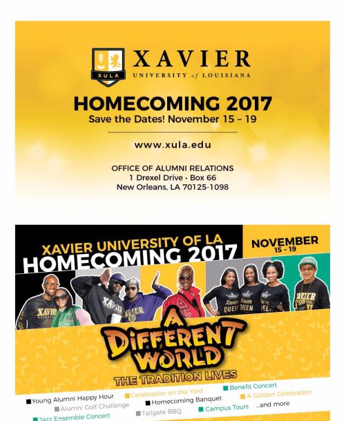 Xavier University of Louisiana Celebrates Homecoming 2017