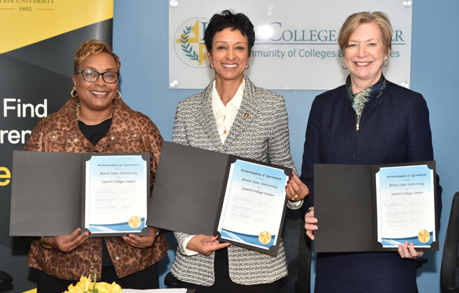Bowie State Partners With Two Local Community Colleges To Offer Four-year Degrees to More People