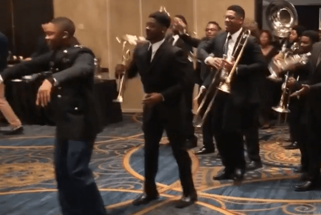 VIDEO: KKPSi Members of ECSU's Band, Sound of Class, Stroll With Style