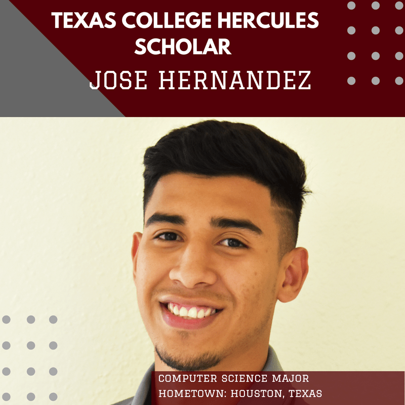 He's on His Way to Becoming a First-Generation College Grad. Meet Jose Hernandez, Today's Hercules Scholar from Texas College