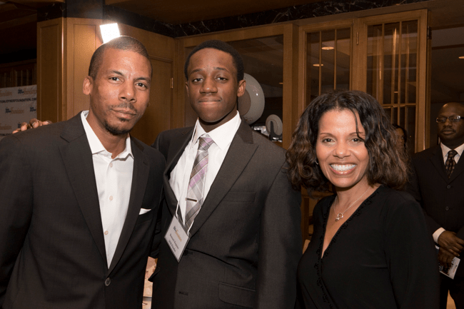From left: TJF President, Thomas Joyner, Jr., Full Ride Scholarship Finalist Bomani Kopano and TJF Director of College Relations, Sonja Currie. TJF President, Thomas Joyner, Jr., addresses attendees at the Full Ride Scholarship banquet. (Photo: Jesse Hornbuckle)