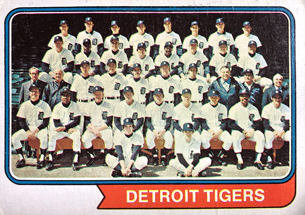 Detroit Tigers 1974 team photo