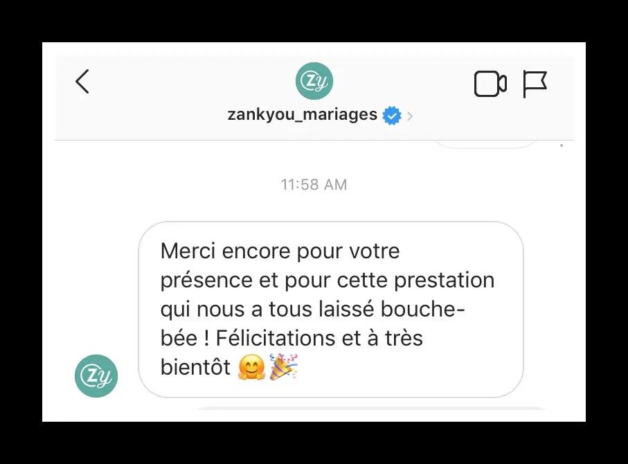 Zankyou Mariage Magicien