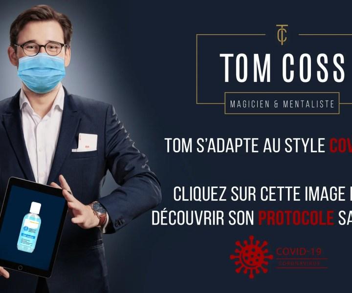 Tom est magicien à Lille pour les événements.