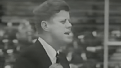 Photo of JFK on Education