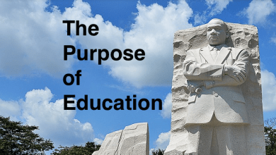 "Photo of MLK: Chief Aim of Education is to ""Save Man from the Morass of Propaganda"""