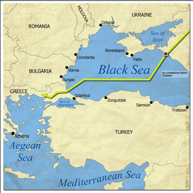 turkish stream map