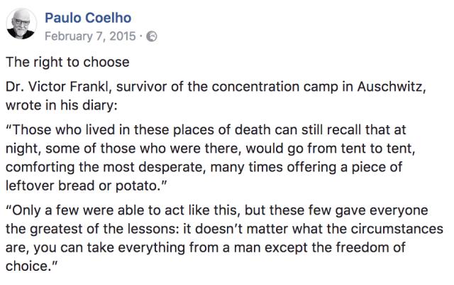 Coelho on Frankl