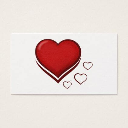 red heart romantic beautiful business