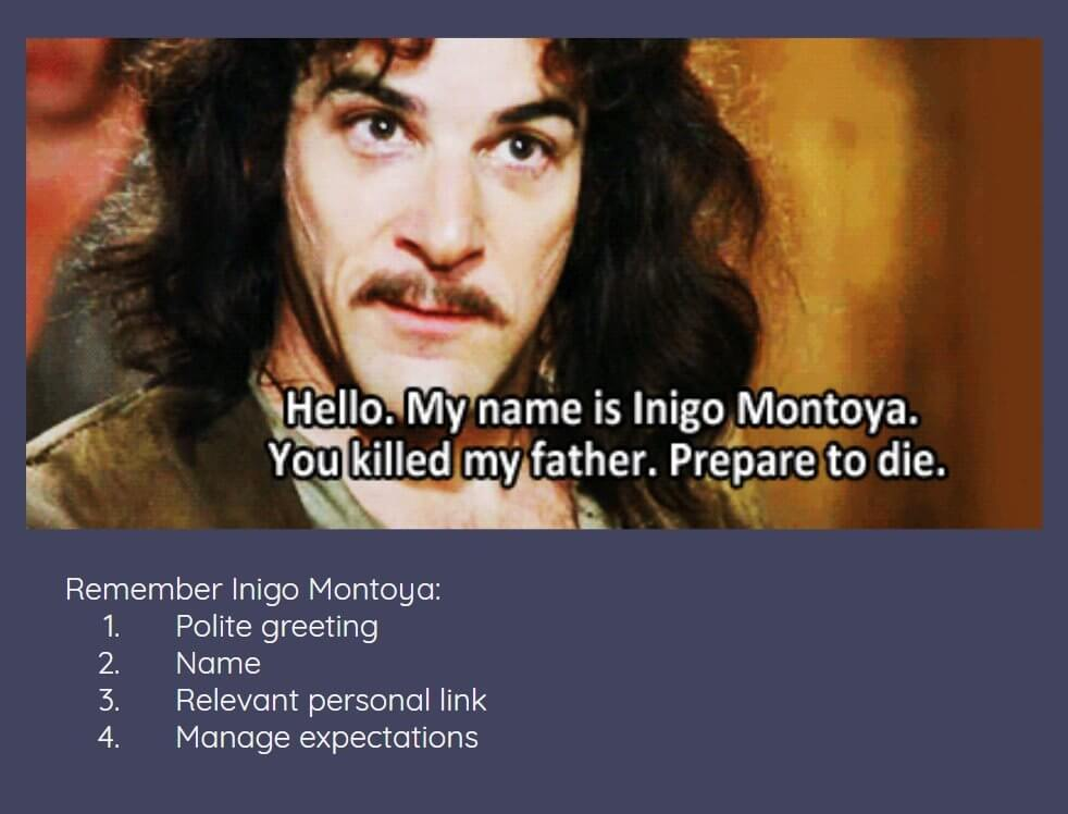 Inigo Montoya - Masterclass on introducing yourself